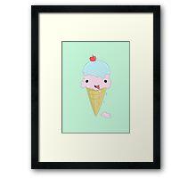 Cute Icecream Framed Print
