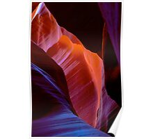 Antelope Canyon forms Poster