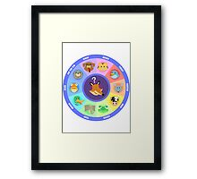 What does the fox say? Framed Print