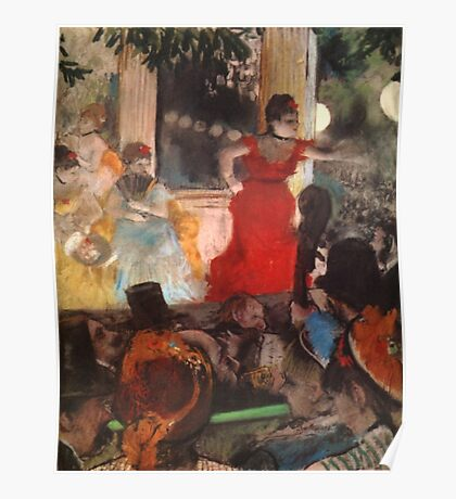 Edgar Degas French Impressionism Oil Painting Cafe Concert Poster