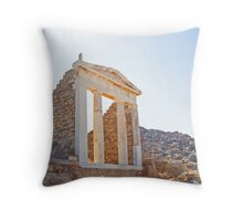 Temple on Delos Throw Pillow