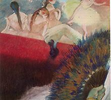 Edgar Degas French Impressionism Oil Painting Im Theater by jnniepce