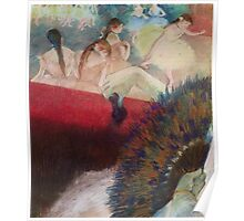 Edgar Degas French Impressionism Oil Painting Im Theater Poster