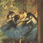 Edgar Degas French Impressionism Oil Painting Ballerina by jnniepce