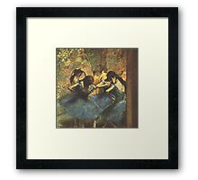 Edgar Degas French Impressionism Oil Painting Ballerina Framed Print