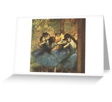 Edgar Degas French Impressionism Oil Painting Ballerina Greeting Card