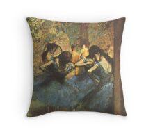 Edgar Degas French Impressionism Oil Painting Ballerina Throw Pillow