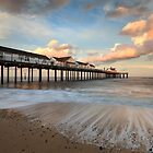 Sunset at Southwold by Justin Minns