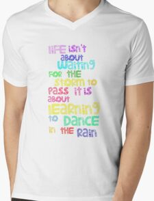 Dance In  The Rain Mens V-Neck T-Shirt