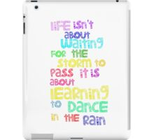 Dance In  The Rain iPad Case/Skin