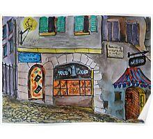 Watercolor Sketch - Genève, Rue de la Tour-de-Boël 6 Poster