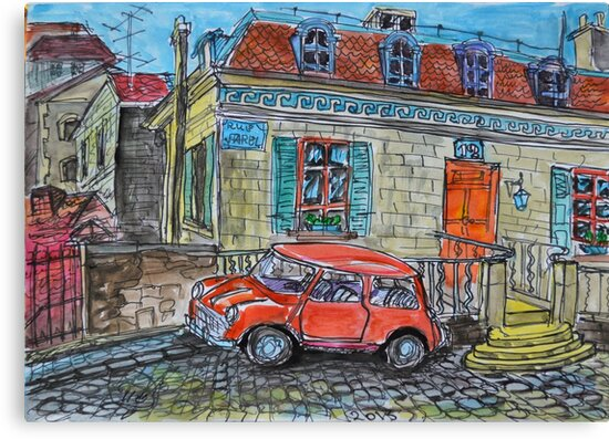 Watercolor Sketch - Genève, Rue Guillaume-Farel 8 by Igor Pozdnyakov