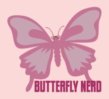 Butterfly nerd with glasses (in pink) Kids Tee