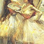 Edgar Degas French Impressionism Oil Painting Ballerinas by jnniepce