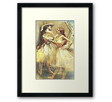 Edgar Degas French Impressionism Oil Painting Ballerinas Framed Print
