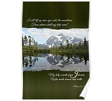 I Lift My Eyes - Note Card Poster