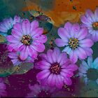 TINY BUBBLES ABSTRACT by Diane Peresie