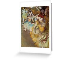 Edgar Degas French Impressionism Oil Painting Dancers Greeting Card