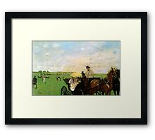 Edgar Degas French Impressionism Oil Painting Horse Buggy Framed Print