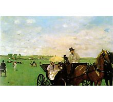 Edgar Degas French Impressionism Oil Painting Horse Buggy Photographic Print