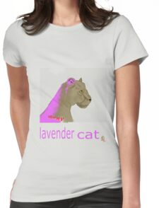 lavender cat Womens Fitted T-Shirt