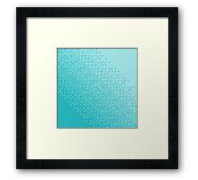 Blue Pixel Wave Framed Print
