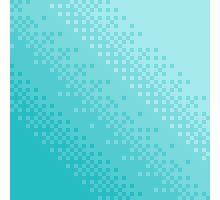 Blue Pixel Wave Photographic Print