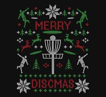 Merry Discmas Disc Golf Ugly Christmas Sweater Digital Art Pullover