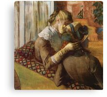 Edgar Degas French Impressionism Oil Painting Women Sitting Canvas Print