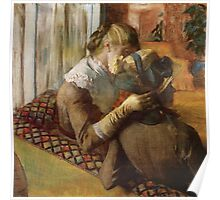 Edgar Degas French Impressionism Oil Painting Women Sitting Poster