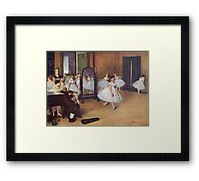 Edgar Degas French Impressionism Oil Painting Ballerinas Rehearsing Framed Print