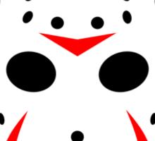 Halloween Hockey Mask Jason Friday 13th Ideology Sticker