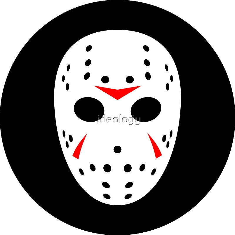 how to draw jason voorhees mask