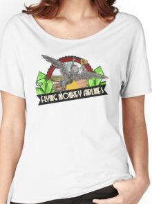 Wizard of Oz Inspired - Flying Monkey Airlines - Flying Monkeys - Airline Parody Design - OZ  Women's Relaxed Fit T-Shirt