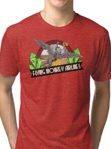 Wizard of Oz Inspired - Flying Monkey Airlines - Flying Monkeys - Airline Parody Design - OZ  Tri-blend T-Shirt