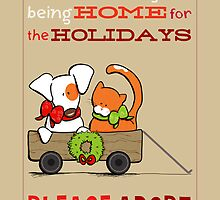 Patch & Rusty : Nothing like Home for Holidays by offleashart