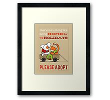 Patch & Rusty : Nothing like Home for Holidays Framed Print