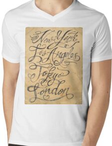 freehand cities Mens V-Neck T-Shirt