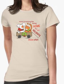Patch & Rusty : Nothing like Home for Holidays Womens Fitted T-Shirt