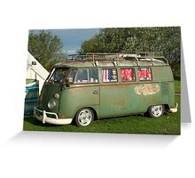 VW Camper Southwold Campsite Greeting Card