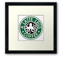 A Latte Legs : Coffee Framed Print