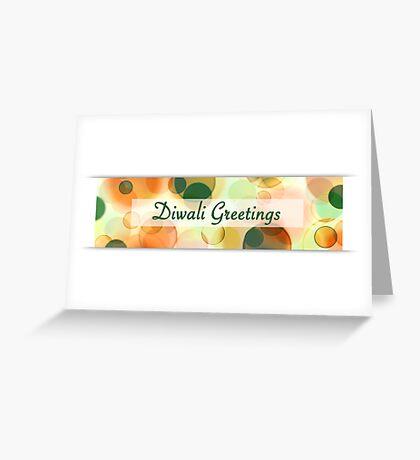 diwali greetings (bokeh) Greeting Card
