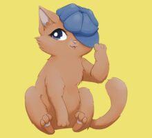 Cute cat wearing a hat Kids Clothes