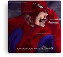 Hero Thoughts: Spider-Man Edition Canvas Print