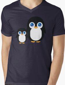 Penguin T Shirt Mens V-Neck T-Shirt
