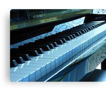 Blue Piano Keys Canvas Print