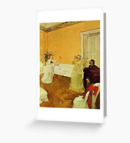 Edgar Degas French Impressionism Oil Painting Girls Singing Greeting Card