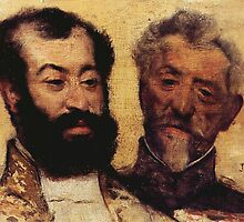 Edgar Degas French Impressionism Oil Painting Bearded Men by jnniepce