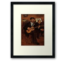Edgar Degas French Impressionism Oil Painting Playing Guitar Framed Print