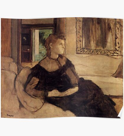 Edgar Degas French Impressionism Oil Painting Woman Sitting Poster
